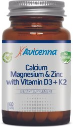 Avicenna / Кальций Магний Цинк с витамином Д3 и К2/ Calcium Magnesium & Zink with Vitamin D3+K2, 60 шт/б
